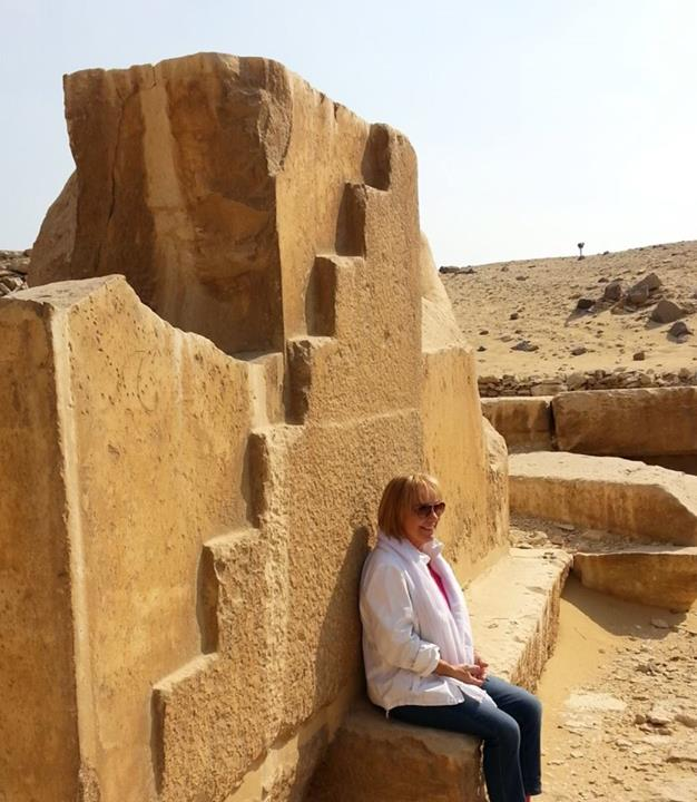 Mary Lomando at Abu Sir Sun Temple near Saqqara Egypt October 2013