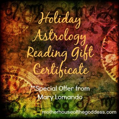 Holiday Astrology Reading Gift Certificate from Mary Lomando