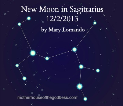 New Moon in Sagittarius by Mary Lomando MotherHouse of the Goddess