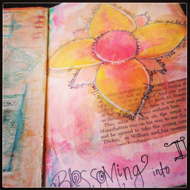 Blossoming art journal