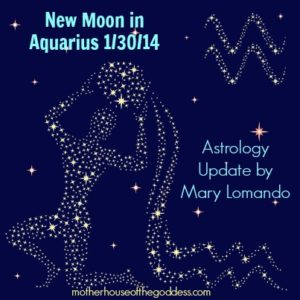 New Moon in Aquarius January 30 2014 Astrology Update by Mary Lomando MotherHouse of the Goddess