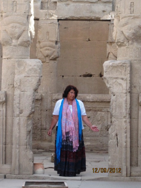 Susie @ Hathor Temple Dendera - 2 copy