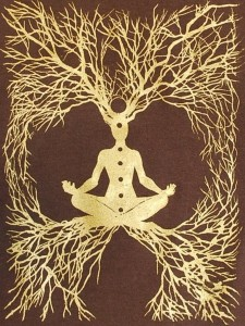 chakra tree with roots