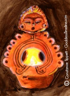 Jomon Fire Goddess by Constance Tippett Goddess Timeline Copyright