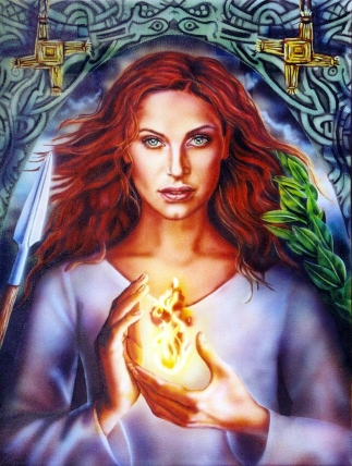 Goddess Brigid from Doreen Virtue's Deck