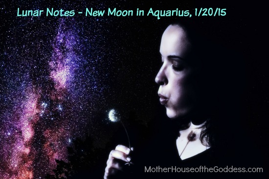 Lunar Notes - New Moon in Aquarius January 20 2015 Wish Upon a Star
