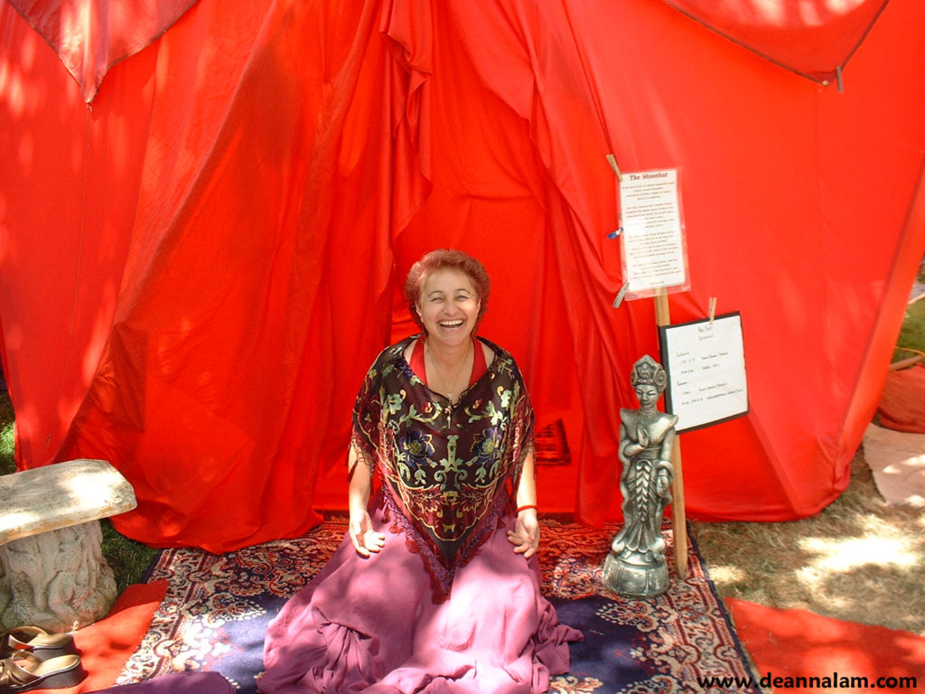 DeAnna in front of Tent, June 09,URL