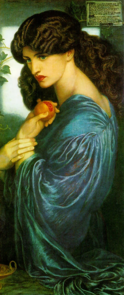 Goddess New Moon Meditation Goddess Alive Radio Art by Dante_Gabriel_Rossetti Goddess Persephone