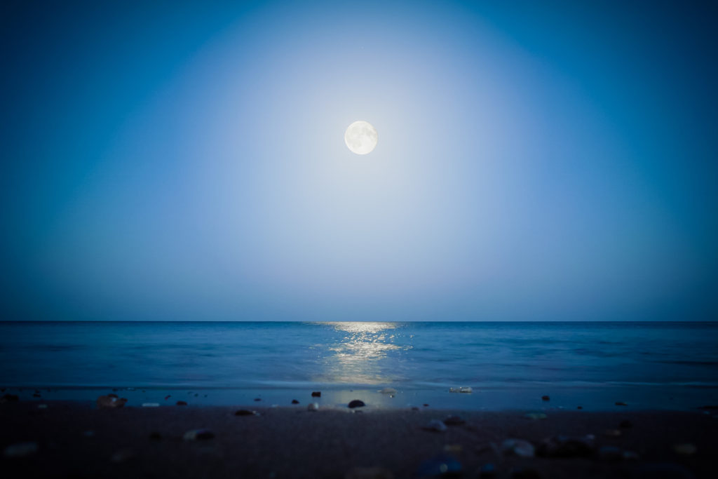 Moonlight On The Sea