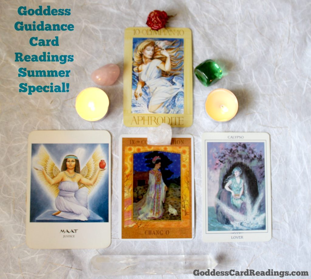 Goddess Guidance Card Readings Summer Special Kimberly F Moore on Goddess Card Readings