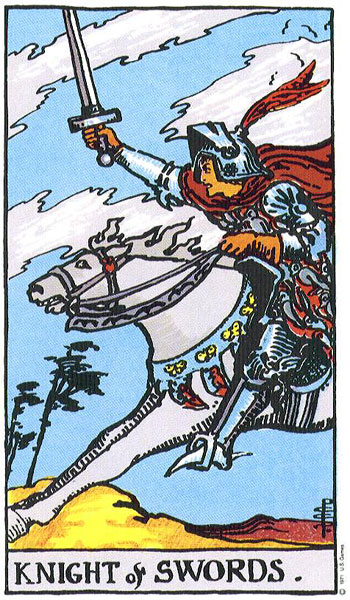Knight of Swords Rider Waite Tarot Deck