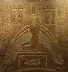 Nephthys in Her protective stance, a mirror of Isis