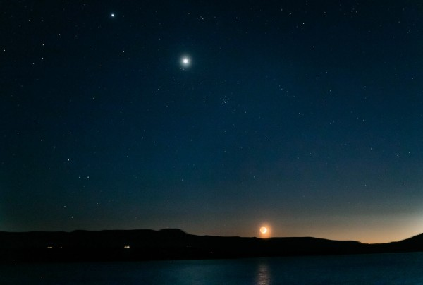 Jupiter, Venus, the Beehive star cluster and the moon are visible in this image from June 18, 2015 by Matt Schulze in Santa Fe, New Mexico. on EarthSky.org