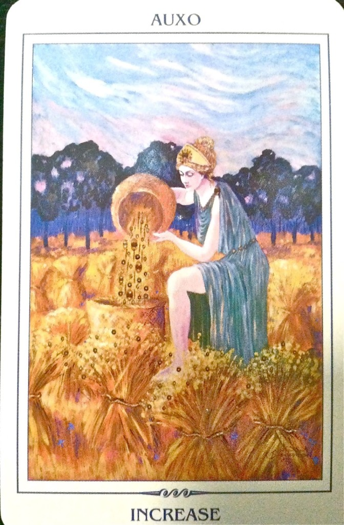 Auxo Goddess of Spring Growth Goddess Card Reading