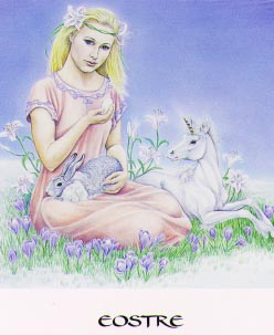 Eostre from the Goddess Oracle Deck by Amy Marashinsky
