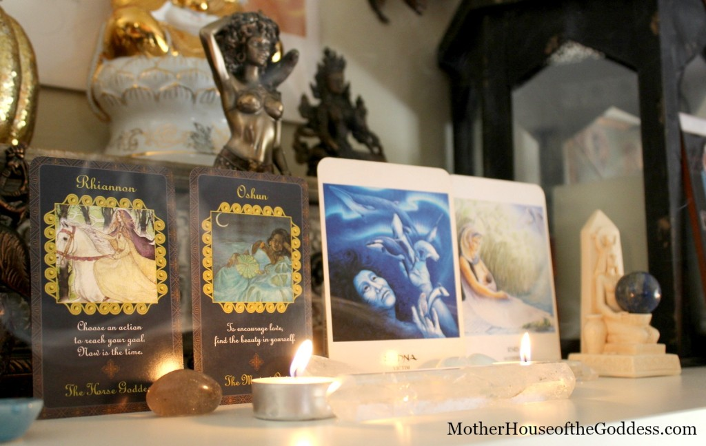 Goddess Card Reading with Rhiannon, Oshu, Sedna, Isis on MotherHouse of the Goddess