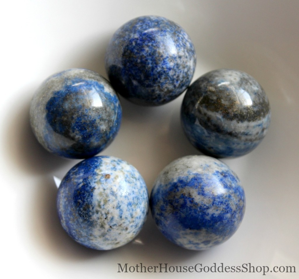 Lapis Lazuli Spheres for your altar