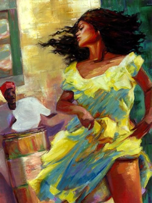 Oshun Dancing - artist unknown
