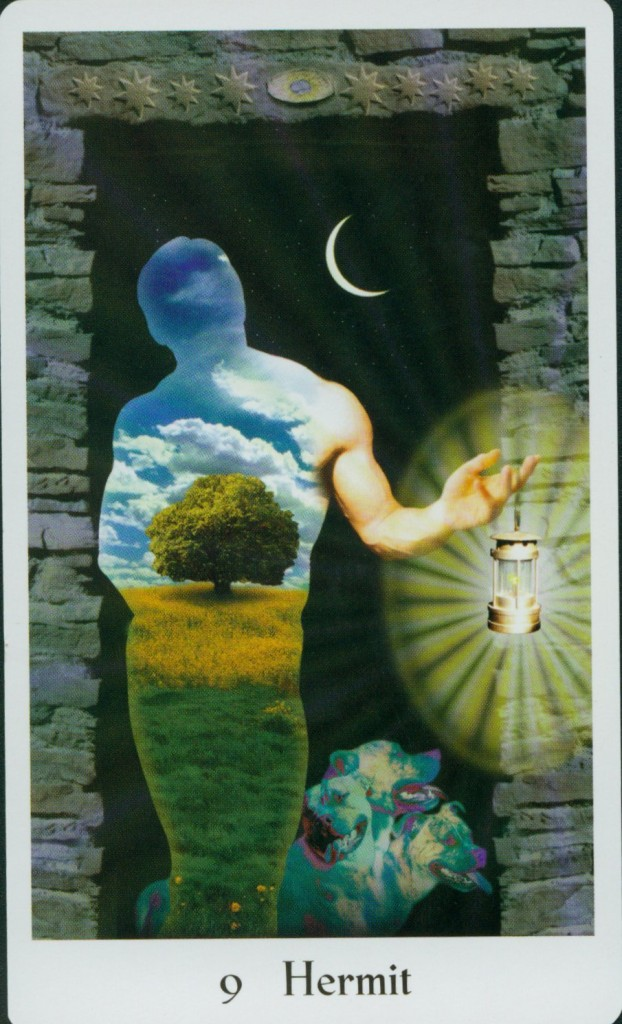 The Hermit from Cosmic Tribe Tarot