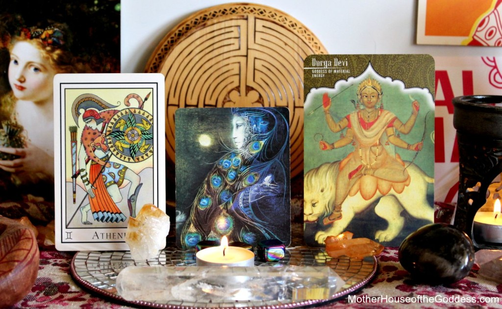 Goddess Card Reading Athene Hera Durga for Week of August 10 and New Moon MotherHouse of the Goddess