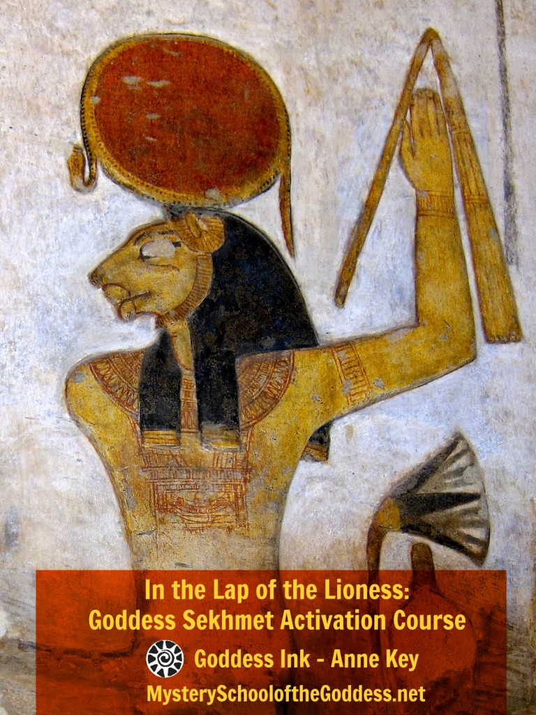 In the Lap of the Lioness Goddess Sekhmet Activation Course with Anne Key Mystery School of the Goddess