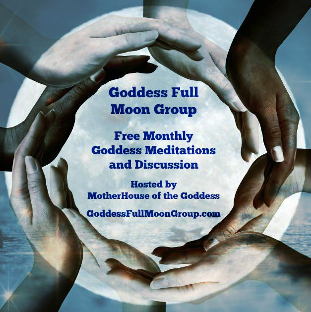 Goddess Full Moon Group Mystery School of the Goddess Square promo blue