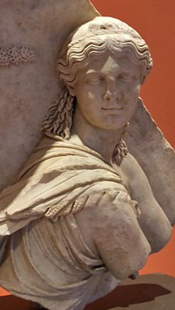 Isis Pelagia, Roman, now in the Capitoline Museum, photo by Ann Raia,