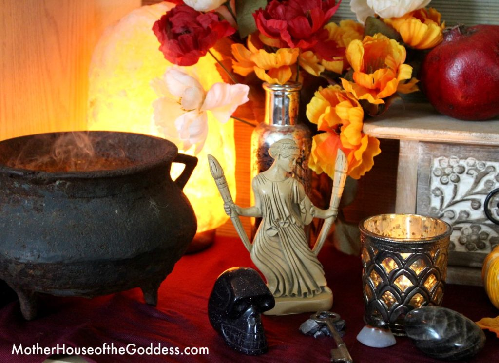 Hekate on Seasonal Altar for MotherHouse of the Goddess