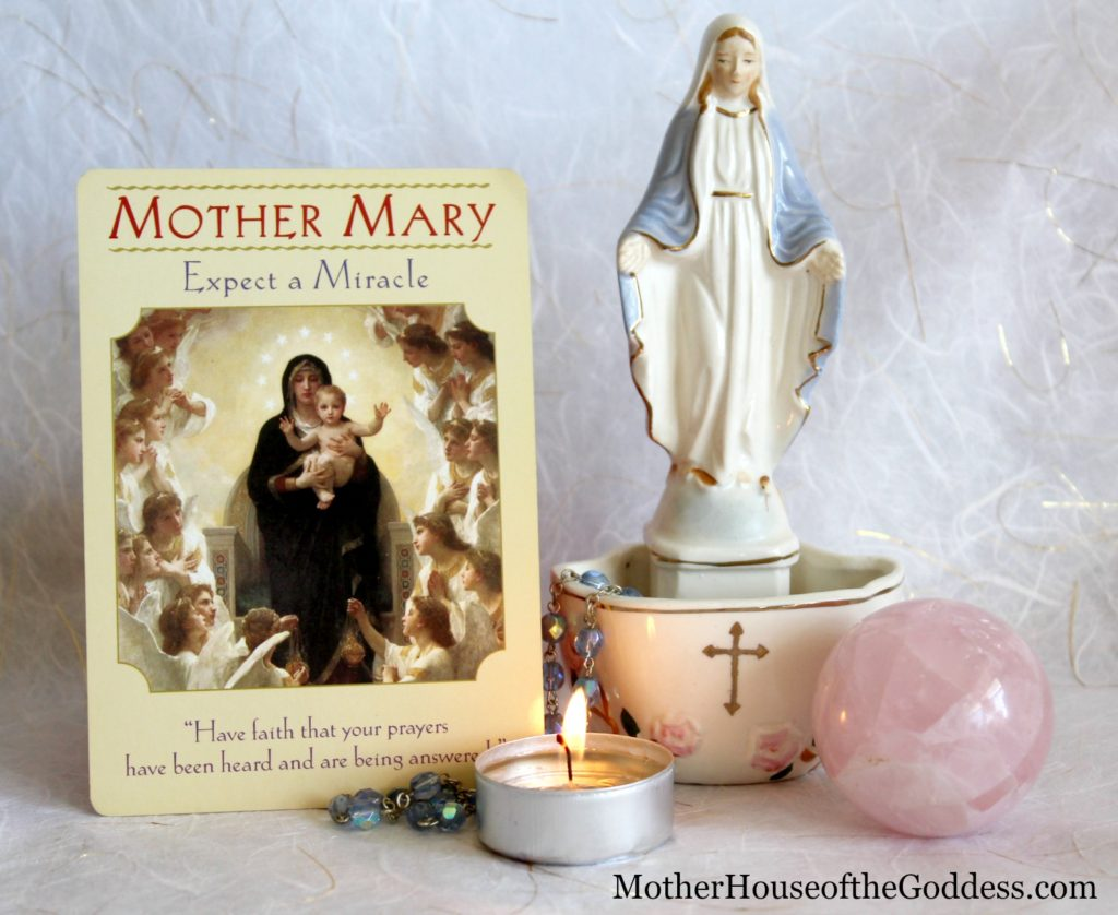 Mother Mary Goddess Cards Expect a Miracle MotherHouse of the Goddess