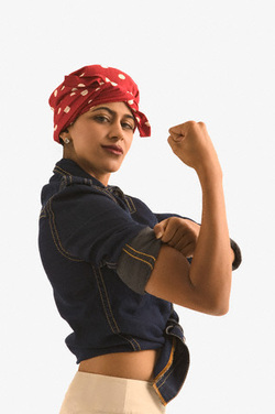 Oh how I love this! Isis the Riveter