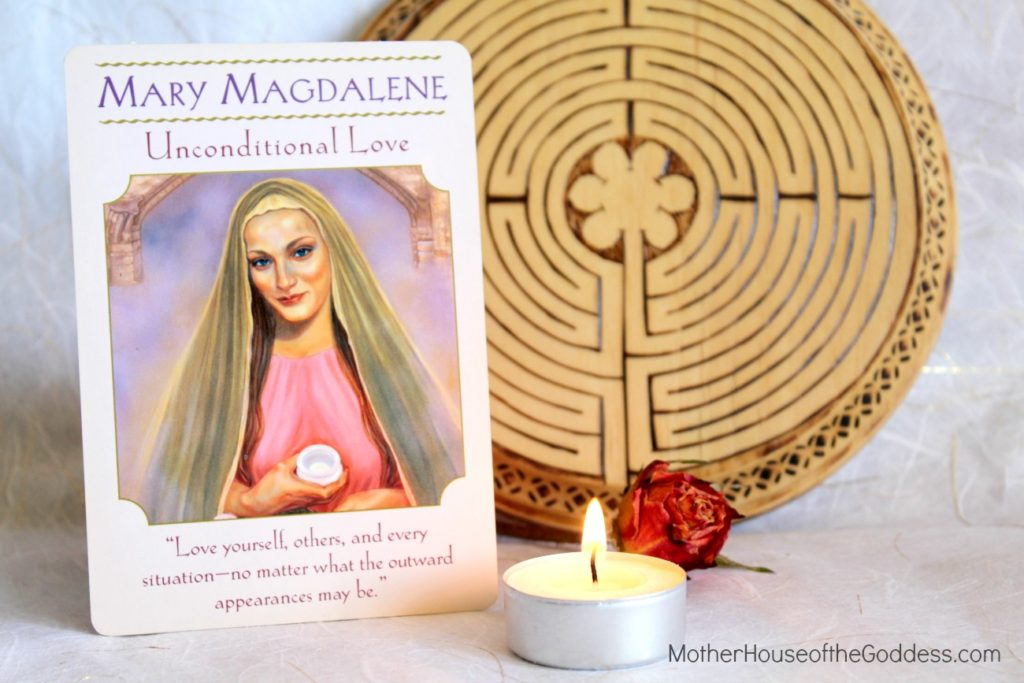Mary Magdalene Goddess Card Labyrinth MotherHouse of the Goddess