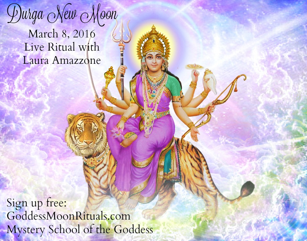 Durga New Moon Live Ritual with Laura Amazzone Mystery School of the Goddess