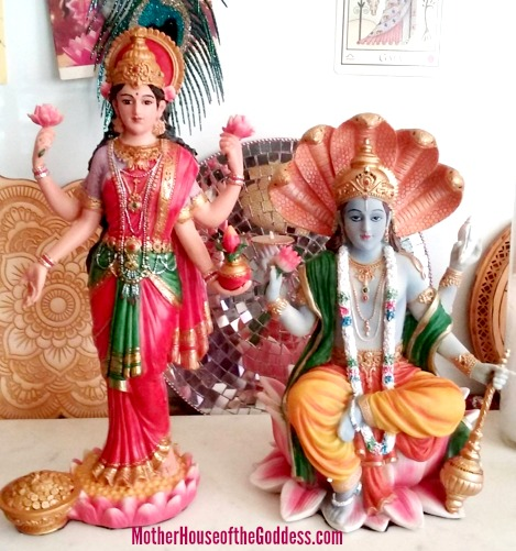 Lakshmi Vishnu together