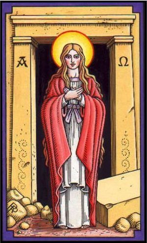 Mary Magdalene from the Tarot of the Saints by Robert M. Place