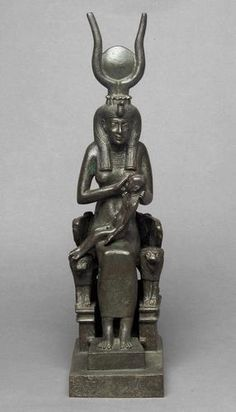 Isis with Horus on Her Throne