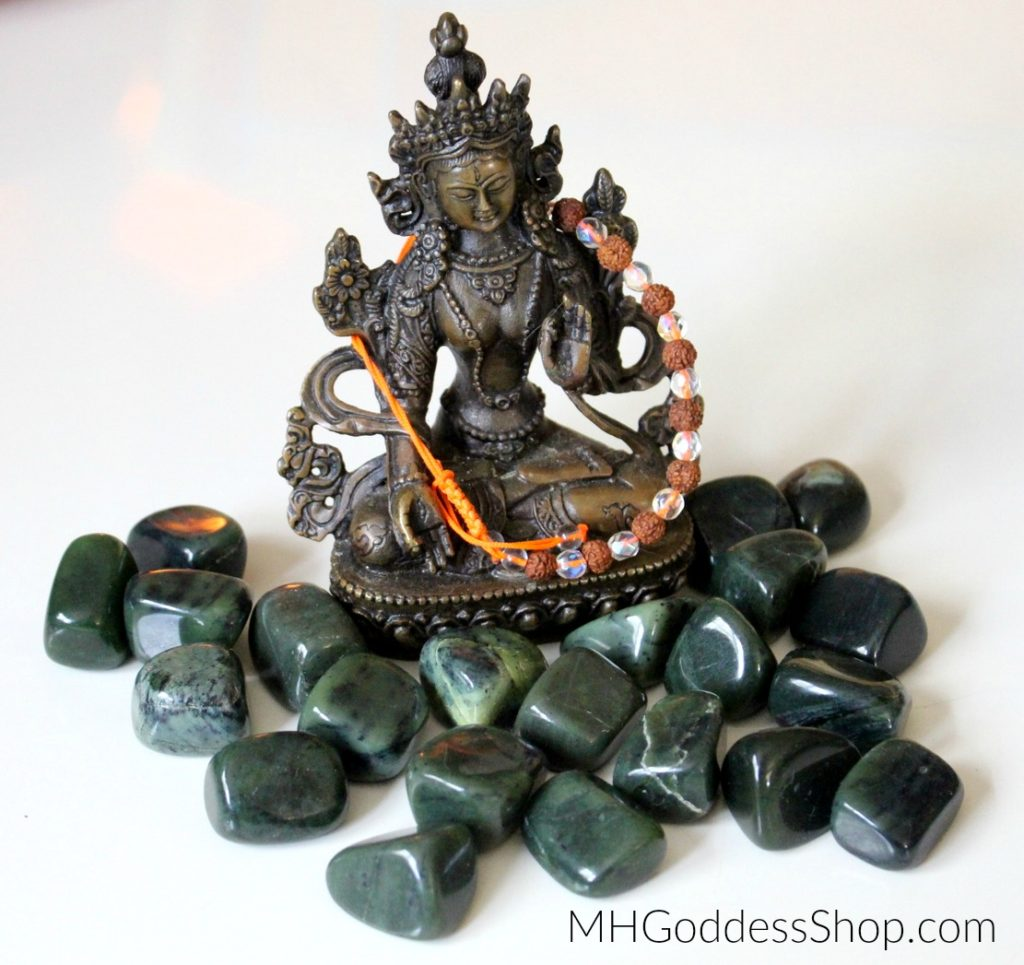 Nephrite Jade with Green Tara MotherHouse Goddess Shop