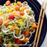 Spiralized Cucumber and Soba Noodles with Edamame Recipe for Almost Summer {Hungry Goddess}