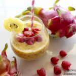 Dragon Fruit, Coconut, Mango Smoothie Bowl for the Solar Plexus Chakra {Hungry Goddess}