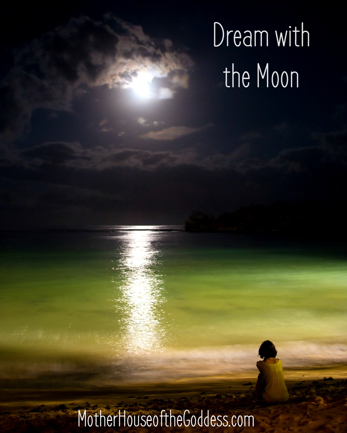 Dream with the Moon and July Lunar Calendar by Charlotte Elea on MotherHouse of the Goddess