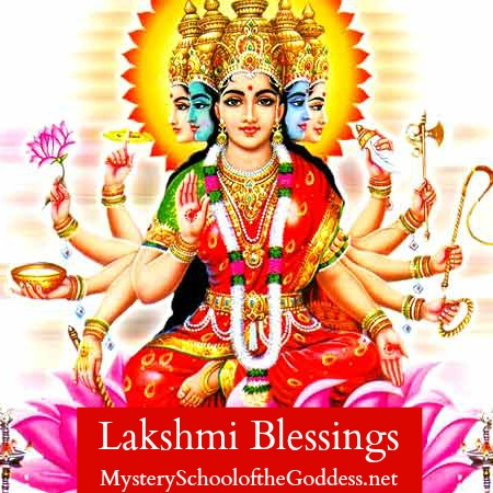 Lakshmi Blessings Kimberly Moore Mystery School of the Goddess