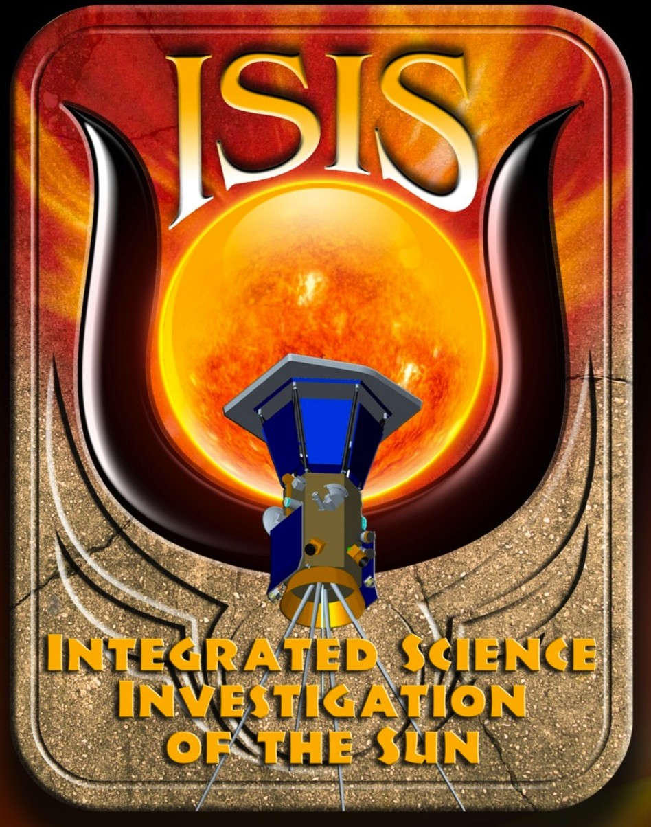 When NASA sends a probe to the sun, it will go in the name of Isis. Yes, this is the real mission logo. Check this link for the science and you'll see that they indeed meant ISIS.
