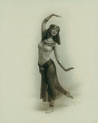 Ruth Saint Denis, a pioneer of modern dance, began to investigate Asian dance after seeing an image of the Egyptian goddess Isis in a cigarette advertisement. Apparently, the Goddess inspires love everywhere.