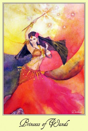 High Priestess Tarot - Princess of Wands Kathryn Ravenwood on MotherHouse of the Goddess
