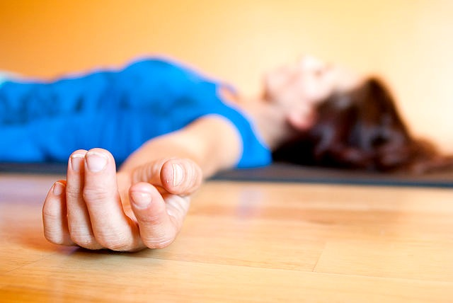 Savasana - Corpse Pose Yoga Journeys by Mary Petiet MotherHouse of the Goddess