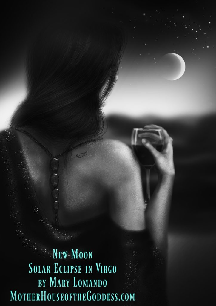 New Moon Solar Eclipse in Virgo by Mary Lomando MotherHouse of the Goddess