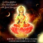 Live Goddess New Moon Ritual & Diwali for Goddess Lakshmi – October 30 with Laura Amazzone