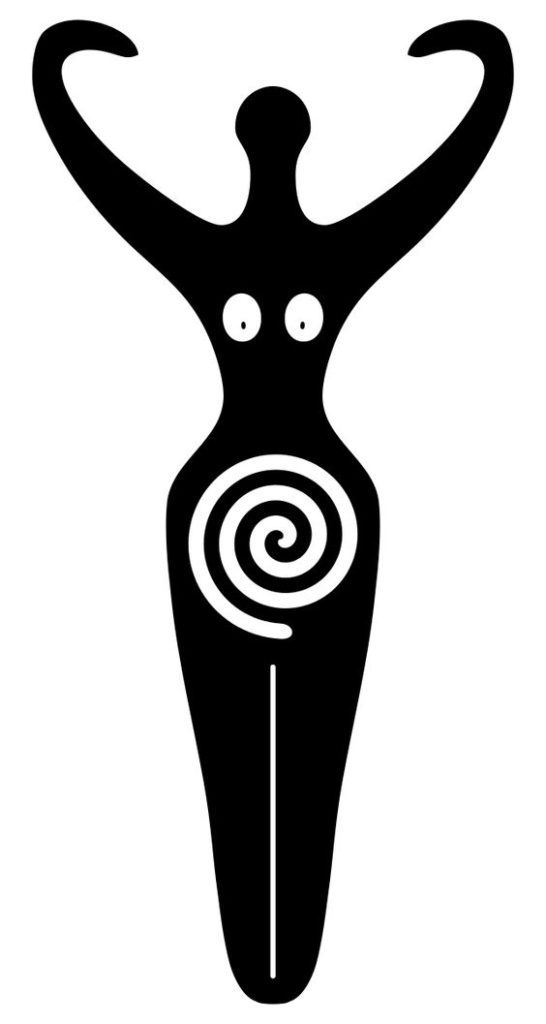 goddess-symbol-black-and-white