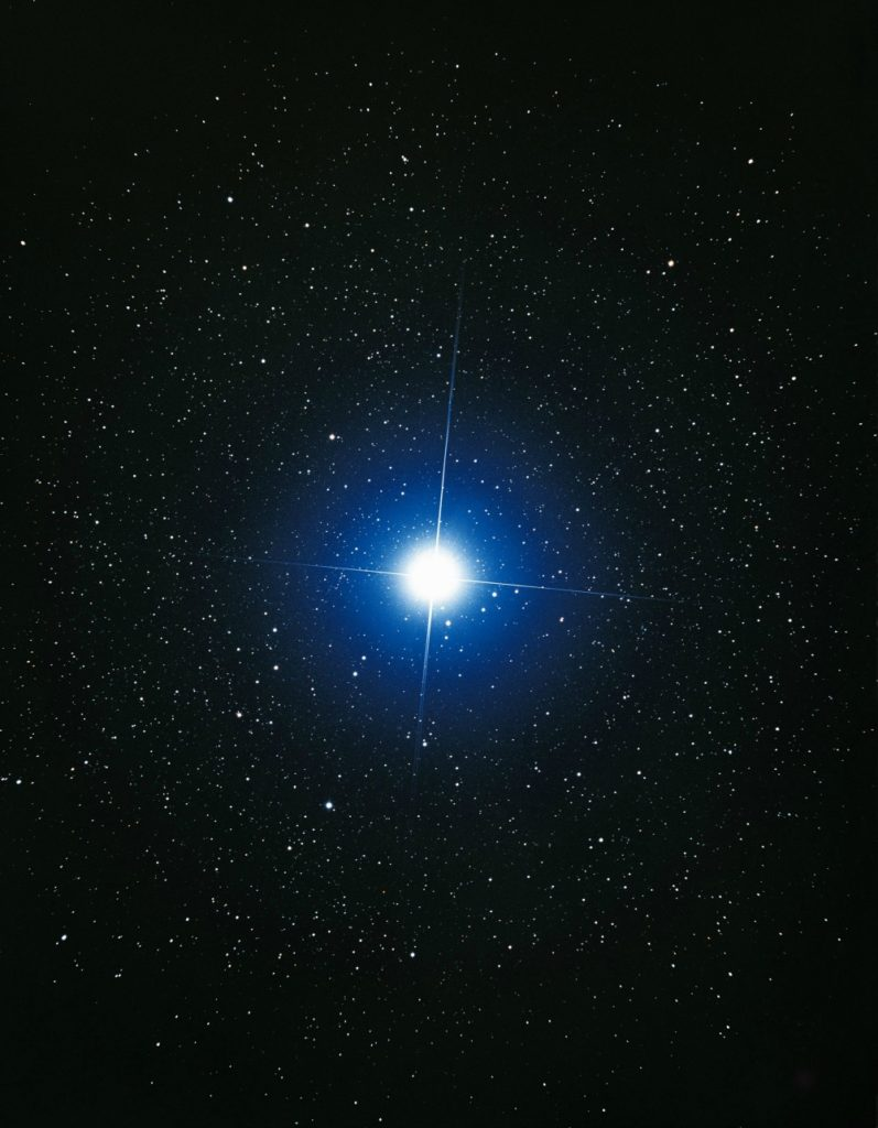 "The Star of Isis is directly overhead at the New Year. ""Open up your head"" and let the Goddess light fill you."