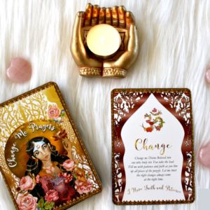 Surrender and a Review of the Change Me Prayers Oracle Deck by Tosha Silver