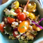 Taste the Rainbow – Heirloom Tomato Fresh Corn and Kale Chakra Salad
